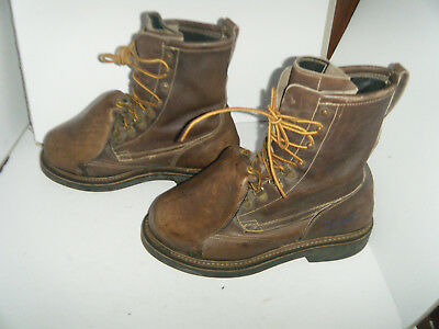 HYTEST VINTAGE SAFETY SHOES STEEL TOE METGUARD SZ 8 C, used for sale  Shipping to India