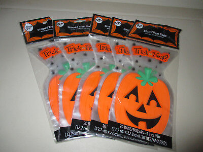 Walmart 100 HALLOWEEN Party Trick or Treat Bags 5 x 9 inches 5 Packs of 20