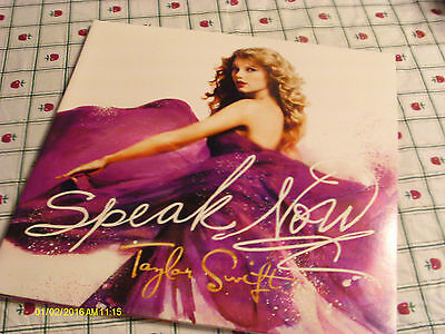"Taylor Swift 2010 Speak Now Vinyl LP Cover ""No Record"""