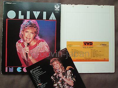 OLIVIA NEWTON-JOHN In Concert JAPAN-ONLY VHD w/Slip Case+Insert VHM68015 Free SH
