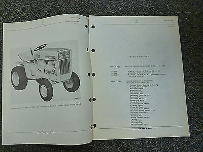 International Harvester Ih Model 122 Cub Cadet Tractor Parts Catalog Manual Book