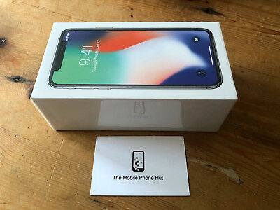 NEW SEALED Apple iPhone X 64GB A1901 SILVER (UNLOCKED) 1 YEAR APPLE WARRANTY
