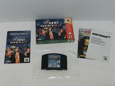 WWF No Mercy Nintendo 64 N64 Game Complete CIB Tested USA Wrestling WWE