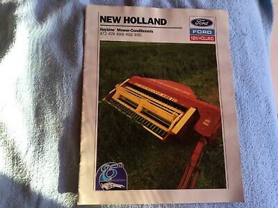 1990 Ford New Holland 472 474 488 492 495 Haybine Mower-conditioner Brochure