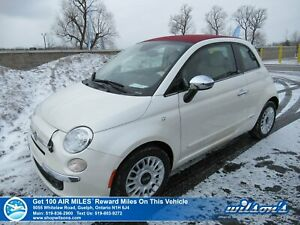 2015 Fiat 500c Lounge Convertible - Only 27,000 km! Leather, Blu