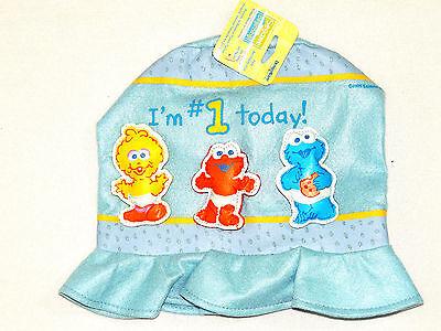 SESAME STREET BEGINNINGS 1- CHILD  FELT BIRTHDAY  HAT-  PARTY SUPPLIES ](Baby Sesame Street Birthday Party Supplies)