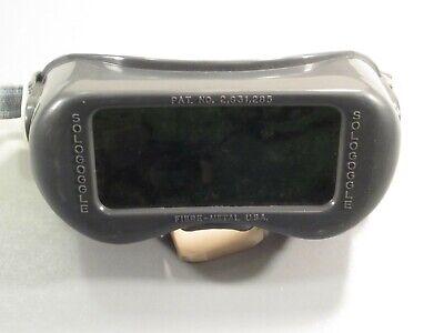 Vintage Fibre-metal Gray Welding Goggles Glasses Usa Eye Protection