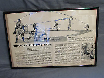 Brooklyn Dodgers Happy Streak 1955 Sports Illustrated Article Diagram of Cutoff