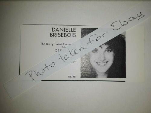 Danielle Brisebois Original 1980s actors casting ad