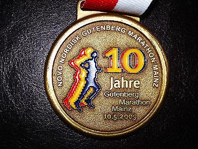 Medaille, Mainz, Marathon 2009, Lauf Mainz Marathon Medallie, Leichtathletik