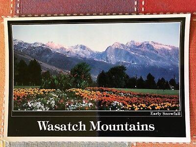 Wasatch Mountains  Utah Postcard