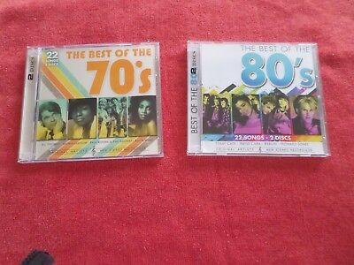 THE BEST OF THE 70'S & 80'S - 2 CD SETS & 4 CD DISCS - (2012)- 44 ORIGINAL (Best 80s Pop Albums)