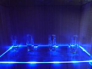 LED Glasregal- Vitrinenbeleuchtung, Clipleuchten Set Lichtfarbe blau Dekoration