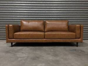 NEW THREE-SEATER: LISBON AUTHENTIC LEATHER SOPHISTICATED STYLE Leumeah Campbelltown Area Preview