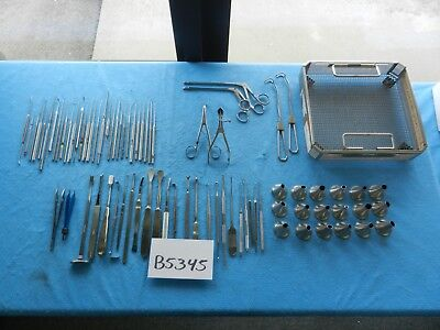 V. Mueller Pilling Jarit Surgical Ent Instrument Set W Tray