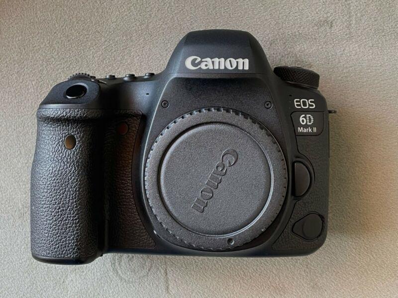 Canon EOS 6D Mark II 26.2MP Digital SLR Camera - Black (Body Only)