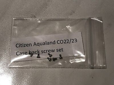 Caseback screw set for Citizen Aqualand CO22 CO23