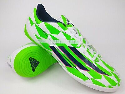 6335669f7f7 Adidas Men Rare F10 M18310 White Green Indoor Soccer Shoes Football Boots  Size 9