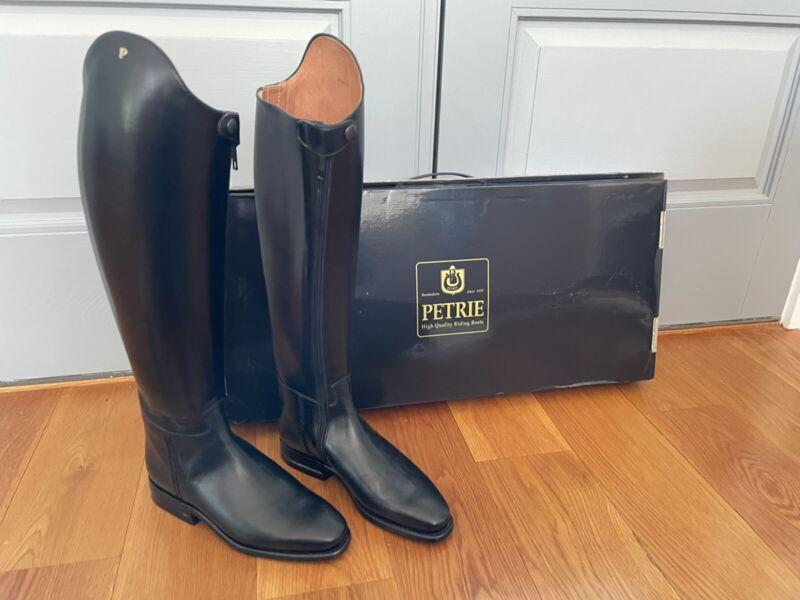 Petrie Anky Elegance Dressage Boots UK 7, US 9.5 - Black Leather - New w/ box