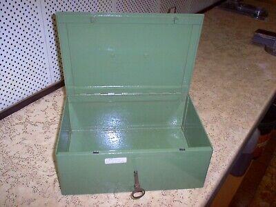 Ancienne Cassette Caisse Coffret Coffre Métallique Métal Fin XIXe siècle