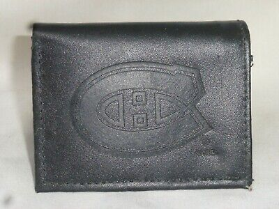 MONTREAL CANADIENS   Leather TriFold Wallet    NEW   black z Montreal Canadiens Leather