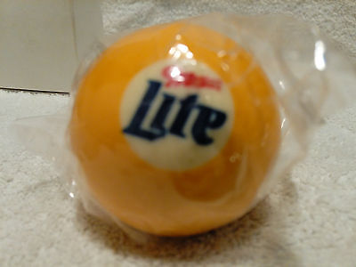 Miller Lite Billiard Ball Yellow Pool Ball number 1 Brand New Still in package