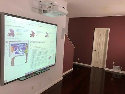 Interactive Smart Board Sb680 And Nec Short Throw Projector