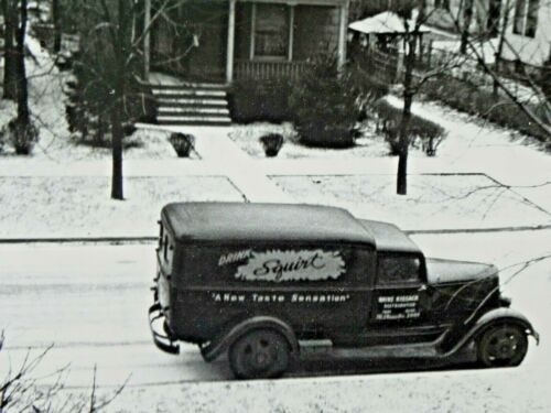 Squirt Soda Delivery Truck Photo Early 1940