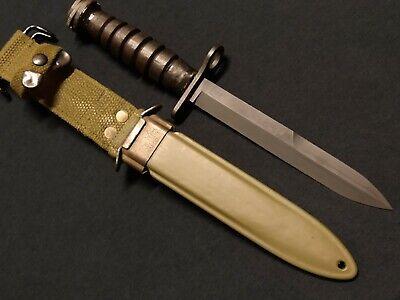 WWII US M CAMILLUS FIGHTING KNIFE BAYONET & M8 BMCO SCABBARD