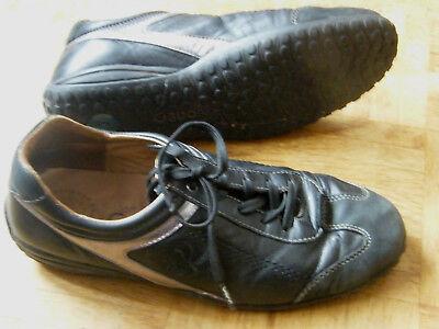 Gabor Freizeit-Schuhe Leder schwarz-silber ~ Gr 6 1/2 / Weite H