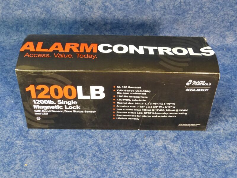 Alarm Controls Assa Abloy 1200LB Electro Magnetic Lock w LED and Bond Sensor C