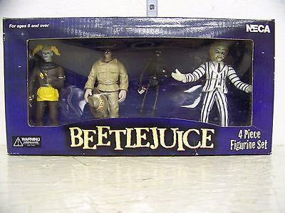 Neca Beetlejuice 4pc Figurine Set Beetlejuice Shrunken Head Guy Smoking Man (Beetlejuice Head Shrunken)