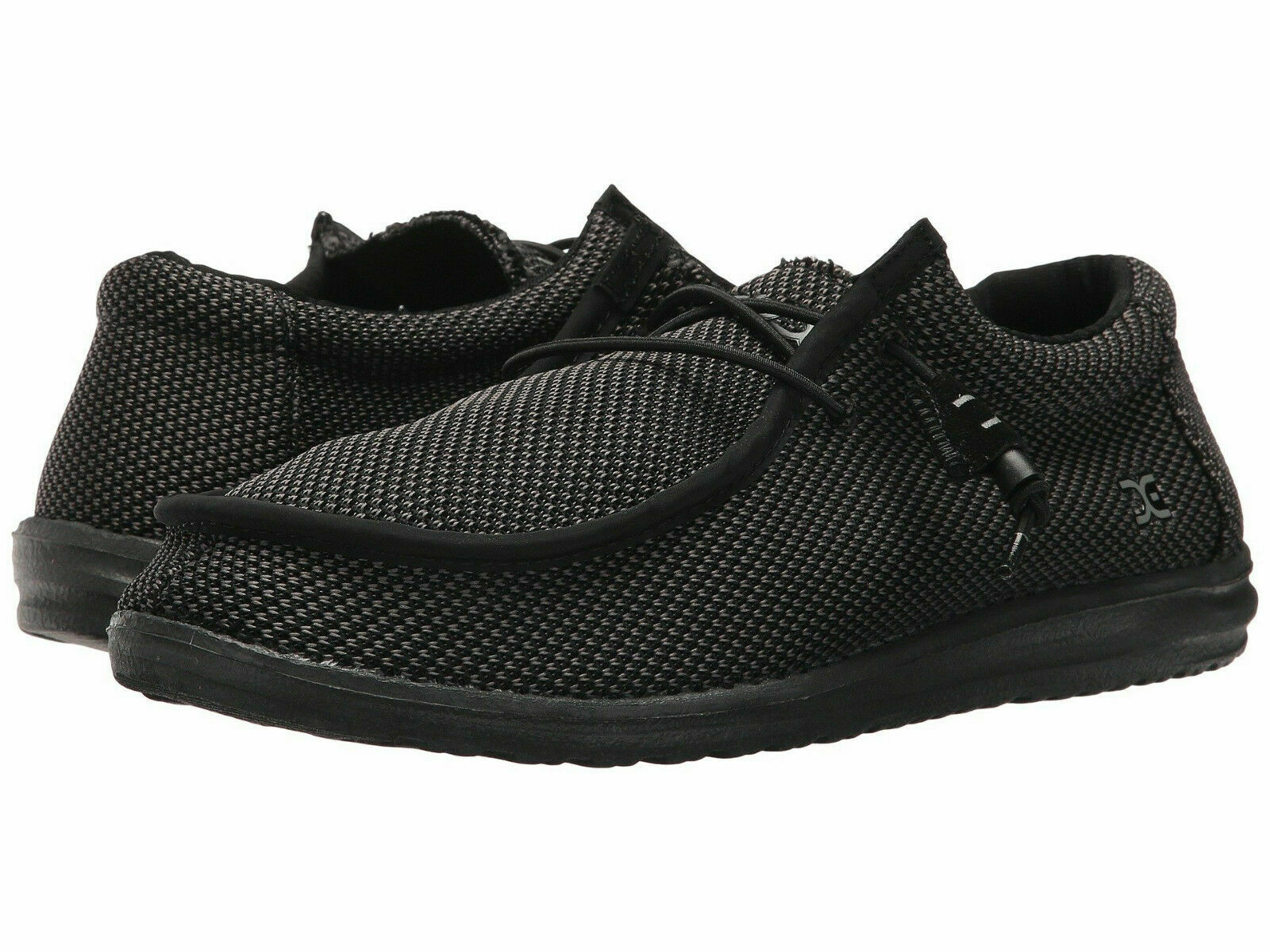 Hey Dude Wally L Sox Men's Shoes Black Comfortable Ligthweight Slip On Casual