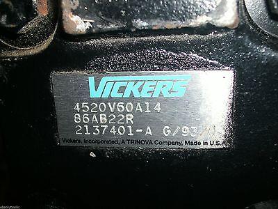 Vickers Eaton 4520v60a14 86ab22r Flange Mounted Tandem Vane Pump