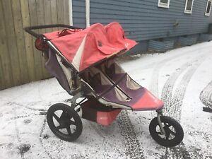 BOB double running stroller
