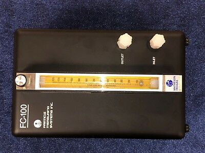 Particle Measuring Systems Fc-100 Di Water Flow Controller Meter With Manual New