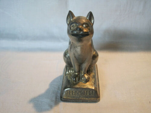 Vintage Feed the Kitty advertising dime still bank Belair Hopkins Federal S&L