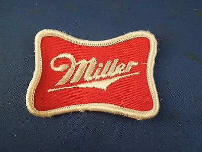 Vintage Miller Beer Alcohol Uniform Jacket Name Sew On Patch