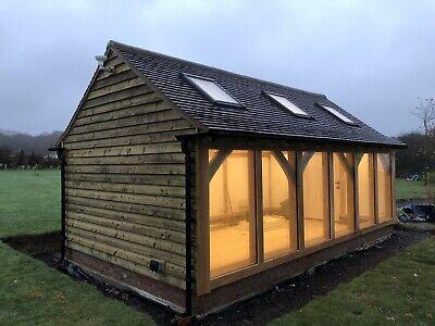 Green Oak Garden Office Pod Shepherds Hut