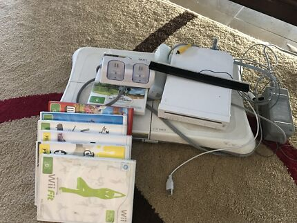 Wii bundle including Wii fit
