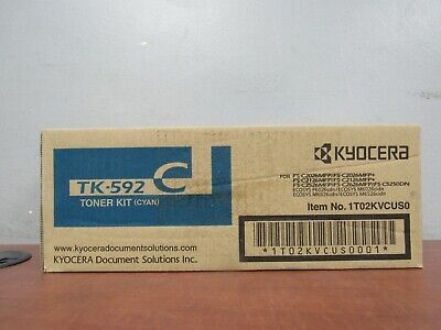 Genuine Kyocera TK-592C Cyan Toner Kit 1T02KVCUS0 [35F]