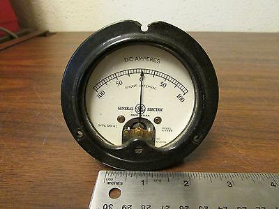 General Electric Panel Meter Do-41 D-c Amperes 100 - 0 - 100 Vintage
