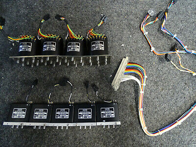 Lot Of 9 Narda Coaxial Switches Models Sem163t Sem123t W Connector