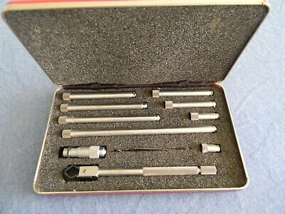 Vintage Starrett Tubular Id Inside Micrometer Set No 823b - 1 12-12 Machinist