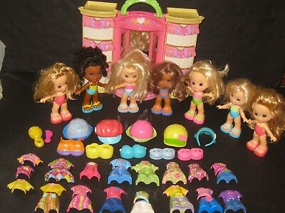 Fisher Price Snap N Style Wardrobe Dolls Clothes Huge Toy Lot