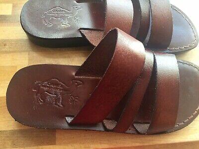 Camels Mens Brown Leather Sandals UK 6 EU 39 Made in Jerusalem new