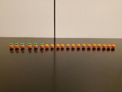 LEGO - 20x Pumpkin Heads Halloween Jack O' Lantern Patch Orange Minifigure Heads