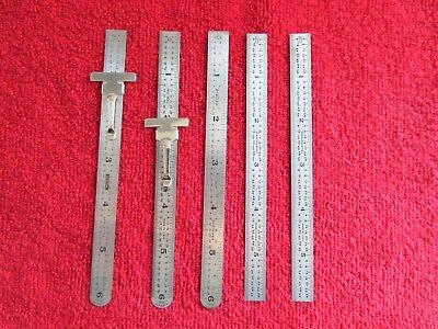 General Tools 6 Flex Precision Stainless Steel Rule Lot Sears 6 Steel Rule