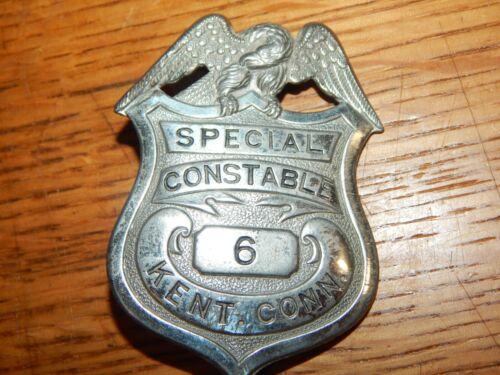 ANTIQUE KENT CONNECTICUT CONN  SPECIAL CONSTABLE  POLICE #6 CT