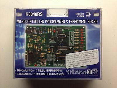 New Velleman K8048rs Microcontroller Programmer Experiment Board.